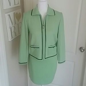 Gorgeous Seafoam Green St. John Suit